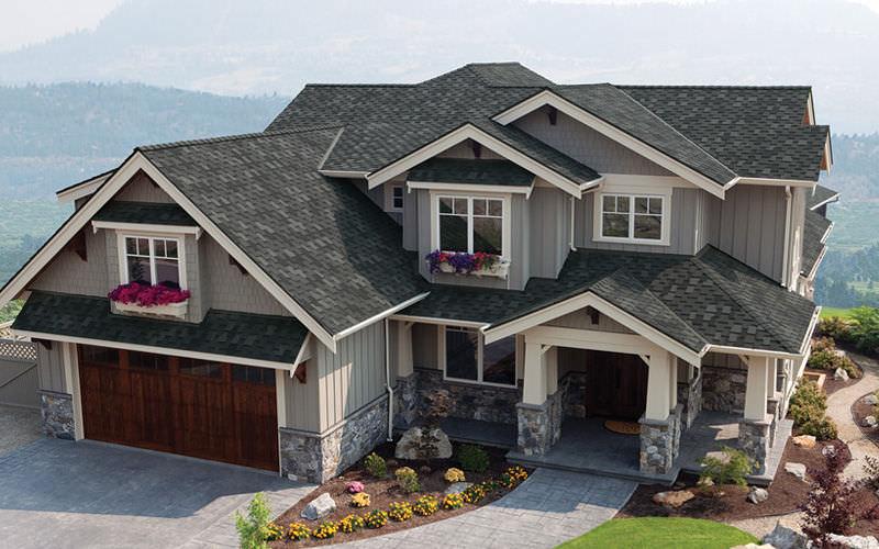 mái nhà bằng ngói dán betong