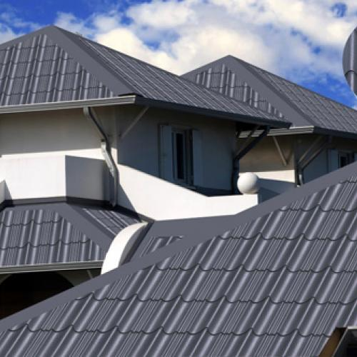 Kết hợp giếng trời và ngói mái betong